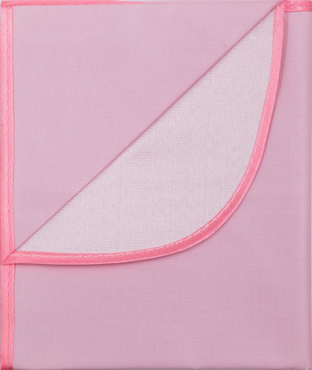 Колорит Клеенка подкладная с окантовкой цвет розовый 70 х 100 см0057_розовыйКлеенка подкладная с ПВХ покрытием Колорит, окантованная по краям тесьмой, предназначена для санитарно-гигиенических целей в качестве подкладного материала в медицинской практике и в домашних условиях. ПВХ покрытие влагонепроницаемо и обладает эффектом теплоотдачи, что исключает эффект холодного прикосновения. Микропористая структура поливинилхлоридного покрытия способствует профилактике пролежней и трофических проявлений. Клеенка окантована текстильной тесьмой, что помогает надолго сохранить опрятный внешний вид.