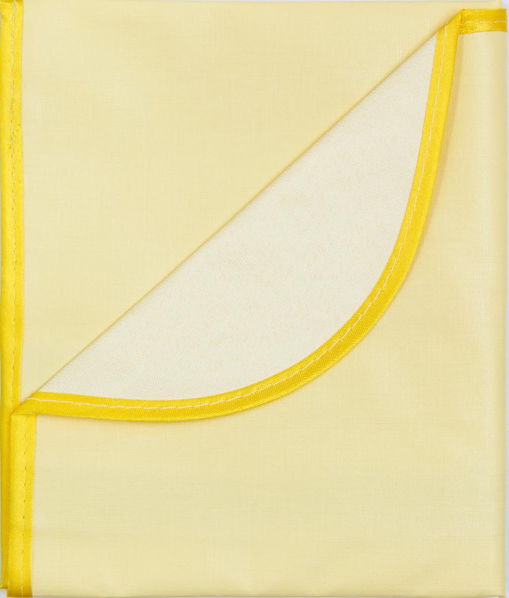 Колорит Клеенка подкладная с окантовкой цвет желтый 70 х 100 см0057_желтыйКлеенка подкладная с ПВХ покрытием Колорит, окантованная по краям тесьмой, предназначена для санитарно-гигиенических целей в качестве подкладного материала в медицинской практике и в домашних условиях. ПВХ покрытие влагонепроницаемо и обладает эффектом теплоотдачи, что исключает эффект холодного прикосновения. Микропористая структура поливинилхлоридного покрытия способствует профилактике пролежней и трофических проявлений. Клеенка окантована текстильной тесьмой, что помогает надолго сохранить опрятный внешний вид.