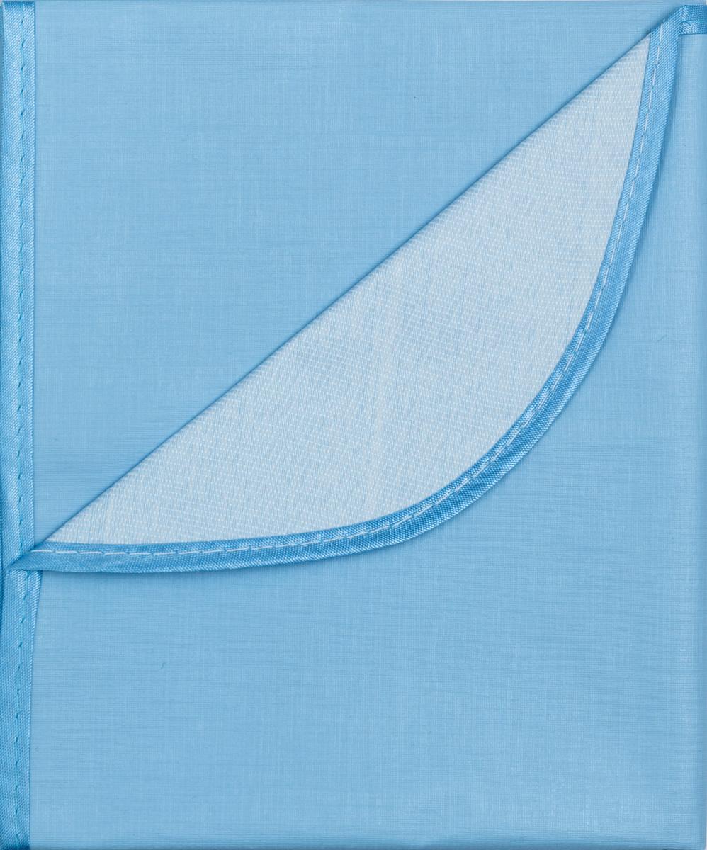 Колорит Клеенка подкладная с окантовкой цвет голубой 70 х 100 см0057_голубойКлеенка подкладная с ПВХ покрытием Колорит, окантованная по краям тесьмой, предназначена для санитарно-гигиенических целей в качестве подкладного материала в медицинской практике и в домашних условиях. ПВХ покрытие влагонепроницаемо и обладает эффектом теплоотдачи, что исключает эффект холодного прикосновения. Микропористая структура поливинилхлоридного покрытия способствует профилактике пролежней и трофических проявлений. Клеенка окантована текстильной тесьмой, что помогает надолго сохранить опрятный внешний вид.