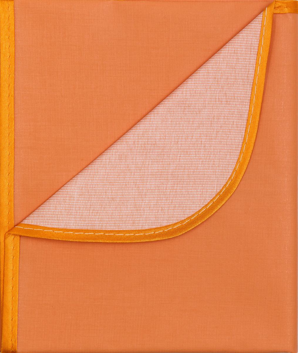 Колорит Клеенка подкладная с окантовкой цвет оранжевый 70 х 100 см0057_оранжевыйКлеенка подкладная с ПВХ покрытием Колорит, окантованная по краям тесьмой, предназначена для санитарно-гигиенических целей в качестве подкладного материала в медицинской практике и в домашних условиях. ПВХ покрытие влагонепроницаемо и обладает эффектом теплоотдачи, что исключает эффект холодного прикосновения. Микропористая структура поливинилхлоридного покрытия способствует профилактике пролежней и трофических проявлений. Клеенка окантована текстильной тесьмой, что помогает надолго сохранить опрятный внешний вид.