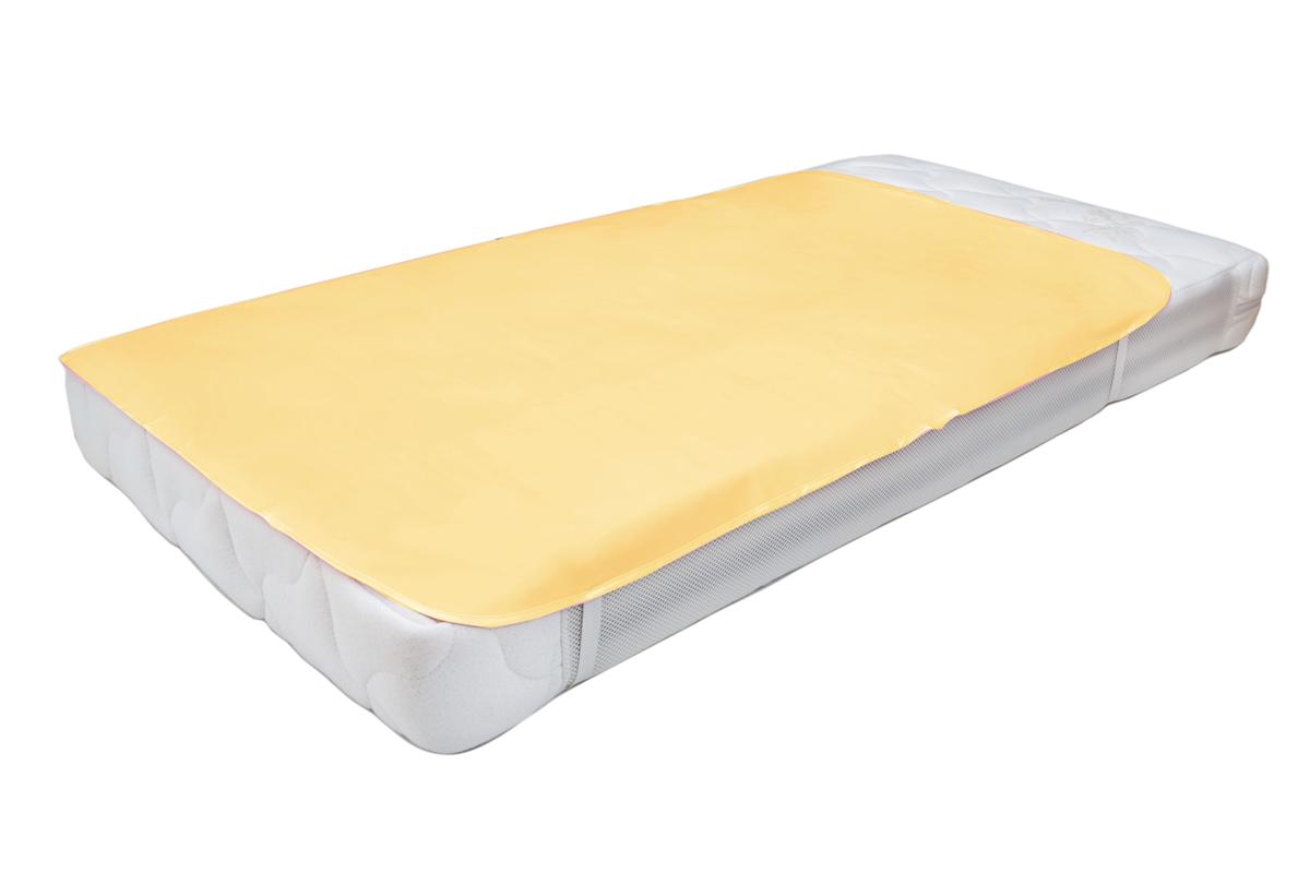 Колорит Клеенка подкладная с резинками-держателями цвет желтый 50 х 70 см0062_желтыйКлеенка подкладная с ПВХ покрытием Колорит предназначена для санитарно-гигиенических целей в качестве подкладного материала в медицинской практике и в домашних условиях. ПВХ покрытие влагонепроницаемо и обладает эффектом теплоотдачи, что исключает эффект холодного прикосновения. Микропористая структура поливинилхлоридного покрытия способствует профилактике пролежней и трофических проявлений. Клеенка окантована текстильной тесьмой и дополнена резинками-держателями, что обеспечивает опрятный внешний вид и надежную фиксацию и позволяет избежать сползания клеенки.