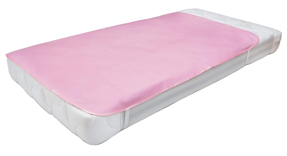 Колорит Клеенка подкладная с резинками-держателями цвет розовый 70 х 100 см0064_розовыйКлеенка подкладная с ПВХ покрытием Колорит предназначена для санитарно-гигиенических целей в качестве подкладного материала в медицинской практике и в домашних условиях. ПВХ покрытие влагонепроницаемо и обладает эффектом теплоотдачи, что исключает эффект холодного прикосновения. Микропористая структура поливинилхлоридного покрытия способствует профилактике пролежней и трофических проявлений. Клеенка окантована текстильной тесьмой и дополнена резинками-держателями, что обеспечивает опрятный внешний вид и надежную фиксацию и позволяет избежать сползания клеенки.