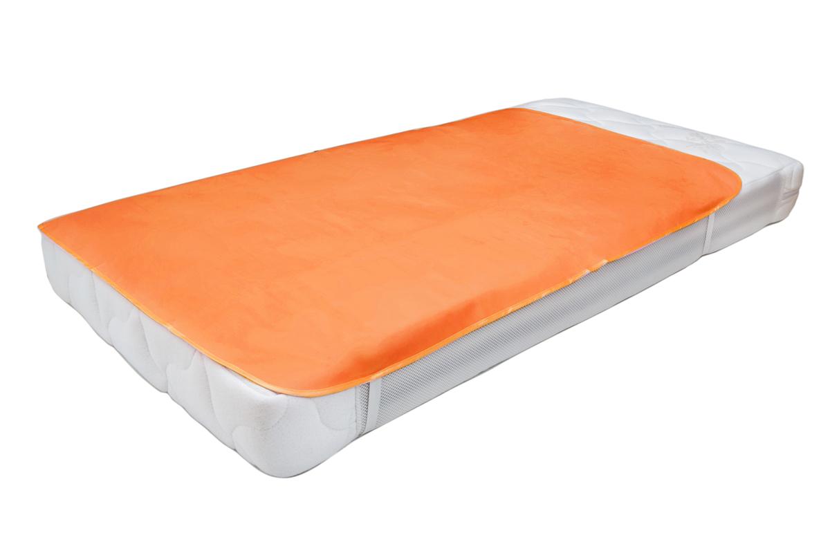 Колорит Клеенка подкладная с резинками-держателями цвет оранжевый 70 х 100 см0064_оранжевыйКлеенка подкладная с ПВХ покрытием Колорит предназначена для санитарно-гигиенических целей в качестве подкладного материала в медицинской практике и в домашних условиях. ПВХ покрытие влагонепроницаемо и обладает эффектом теплоотдачи, что исключает эффект холодного прикосновения. Микропористая структура поливинилхлоридного покрытия способствует профилактике пролежней и трофических проявлений. Клеенка окантована текстильной тесьмой и дополнена резинками-держателями, что обеспечивает опрятный внешний вид и надежную фиксацию и позволяет избежать сползания клеенки.