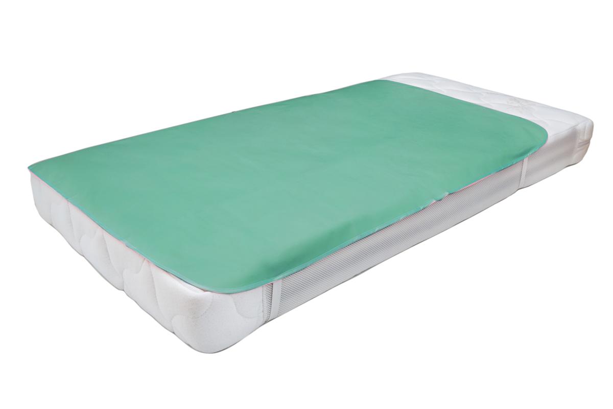 Колорит Клеенка подкладная с резинками-держателями цвет бледно-зеленый 70 х 100 см0064_зеленыйКлеенка подкладная с ПВХ покрытием Колорит предназначена для санитарно-гигиенических целей в качестве подкладного материала в медицинской практике и в домашних условиях. ПВХ покрытие влагонепроницаемо и обладает эффектом теплоотдачи, что исключает эффект холодного прикосновения. Микропористая структура поливинилхлоридного покрытия способствует профилактике пролежней и трофических проявлений. Клеенка окантована текстильной тесьмой и дополнена резинками-держателями, что обеспечивает опрятный внешний вид и надежную фиксацию и позволяет избежать сползания клеенки.