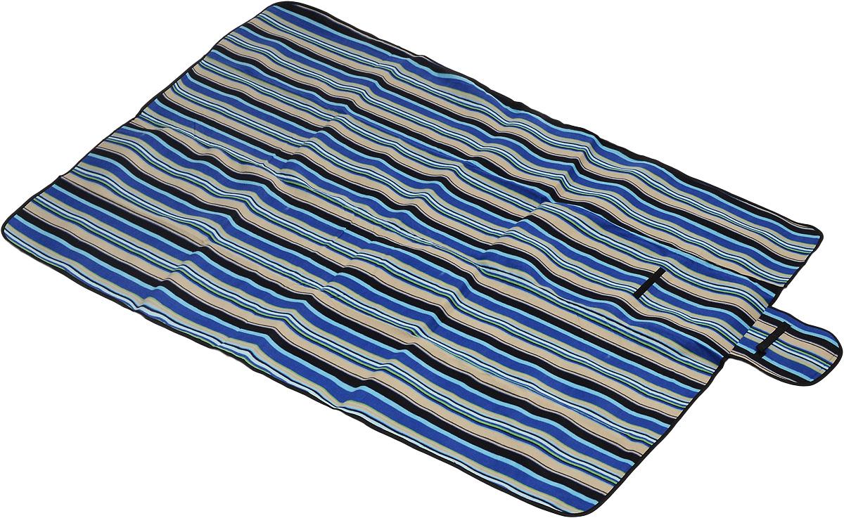 Коврик для пикника Wildman Флиппер, цвет: синий, черный, бежевый, 150 х 200 см81-394_синий, черный, бежевый, полосыКоврик для пикника Wildman Флиппер, выполненный из хлопка и полимерных материалов, позволит полноценно отдохнуть на природе. Он легкий, не занимает много места и прекрасно изолирует человеческое тело от холода и влаги. Мягкая поверхность коврика защищает от неровностей почвы, поэтому туристам, имеющим такую подстилку, гарантирован, кроме удобного отдыха, еще и комфортный сон.