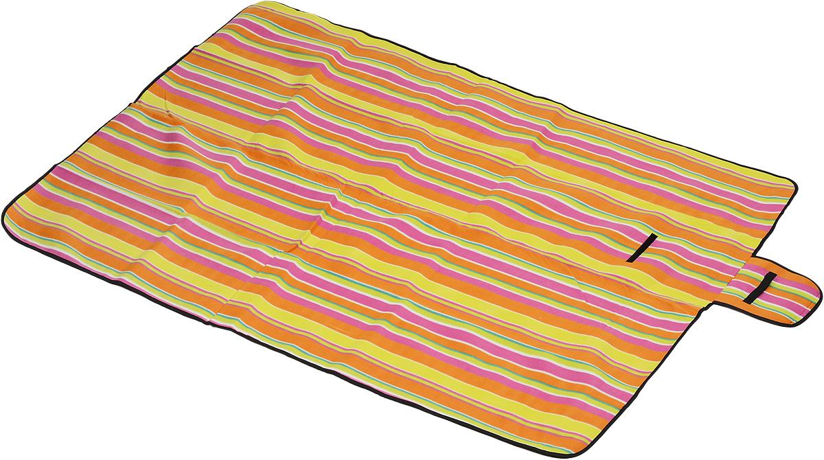 Коврик для пикника Wildman Флиппер, цвет: малиновый, салатовый, оранжевый, 150 х 200 см81-394Коврик для пикника Wildman Флиппер, выполненный из хлопка и полимерных материалов, позволит полноценно отдохнуть на природе. Он легкий, не занимает много места и прекрасно изолирует человеческое тело от холода и влаги. Мягкая поверхность коврика защищает от неровностей почвы, поэтому туристам, имеющим такую подстилку, гарантирован, кроме удобного отдыха, еще и комфортный сон.