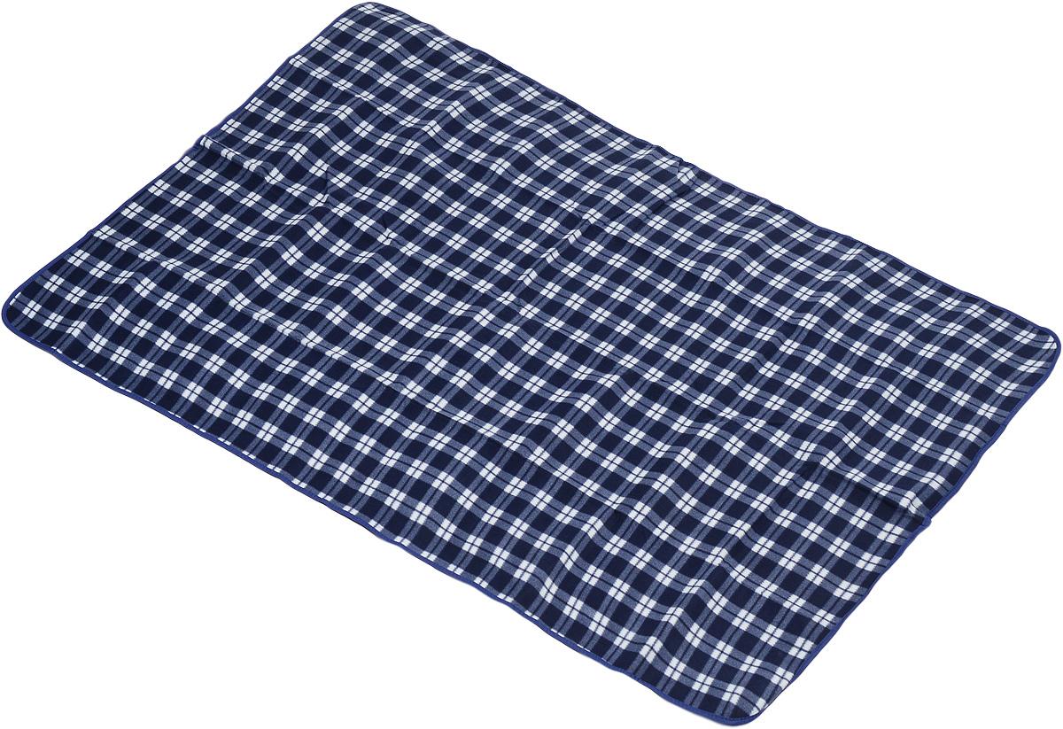 Коврик для пикника Wildman Виши, цвет: синий, белый, 180 х 150 см81-393_синий, белый, клеткаКоврик для пикника Wildman Виши, выполненный из хлопка и полимерных материалов, позволит полноценно отдохнуть на природе. Он легкий, не занимает много места и прекрасно изолирует человеческое тело от холода и влаги. Мягкая поверхность коврика защищает от неровностей почвы, поэтому туристам, имеющим такую подстилку, гарантирован, кроме удобного отдыха, еще и комфортный сон.