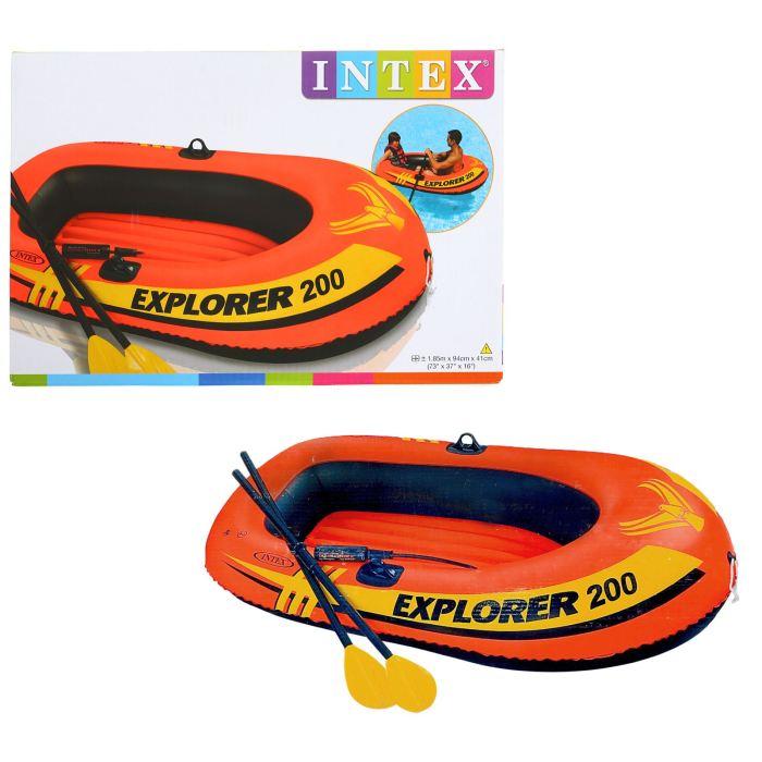 Лодка Intex Explorer 200, цвет: оранжевый. 58331NP