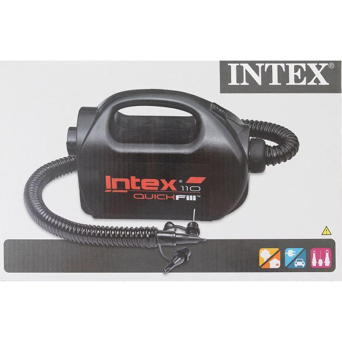 Насос электрический Intex, цвет: черный. 68609694895Универсальный и мощный электрический насос марки INTEX — незаменимая вещь для надувных изделий. Он применяется как для надувания, так и для сдувания. Два режима скорости позволяют накачивать предметы разного объема. Насос работает от сети и от автомобильного прикуривателя, что является большим плюсом для любителей активного отдыха. Благодаря своей компактности насос легок в транспортировке. Возьмите его с собой в путешествие или на природу и наслаждайтесь досугом. Насос электрический 220V, 12V(автомобильный), 2-cкоростной