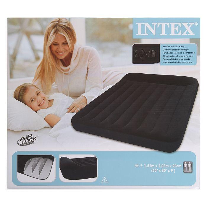 Матрас надувной Intex Classic Queen 152x203x23 см, цвет: черный. 66781 694907