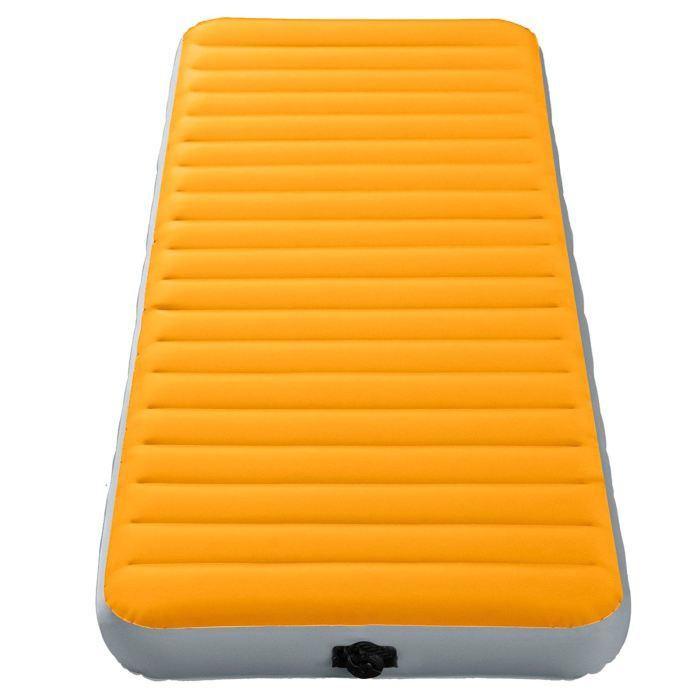 Матрас надувной Intex Super-Tough 76х191х15см, цвет: оранжевый. 64790885925Вы любите одновременно походы и комфорт? Этот вариант для вас! Все что вам нужно - поставить палатку, разложить матрас и надуть его. Все очень просто. Осталось только лечь сладко спать, ведь вы теперь не будете чувствовать спиной каждый камушек, холмик или любую неровность. Матрас надувной Super-Tough 76х191х15см