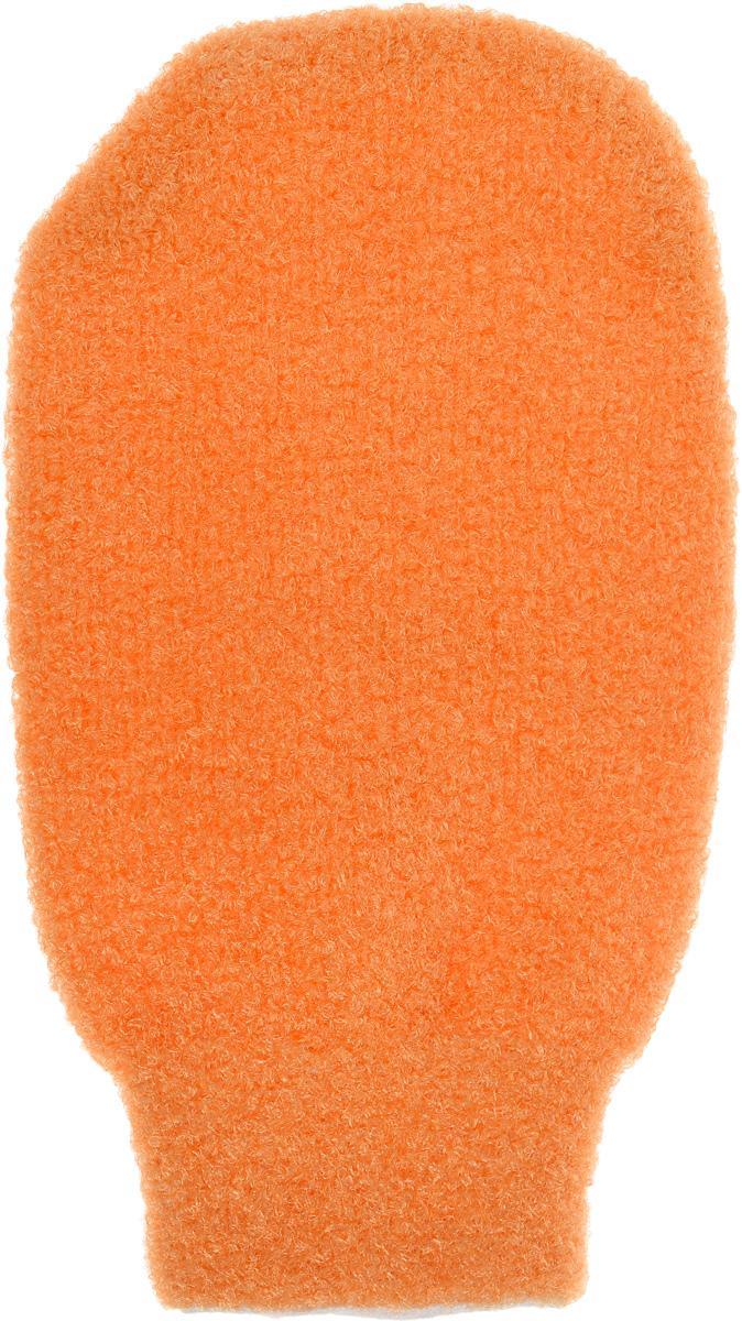 Мочалка-рукавица для тела Fun Fresh Банная, двухсторонняя, цвет: персиковый1. 8 нов.Мочалка-рукавица для тела Fun Fresh Банная выполнена из специальных полиэстеровых волокон, которые не раздражают кожу, отлично вспенивают гели и мыло для душа, а благодаря массажной поверхности улучшают кровообращение и имеет эффект скраба. Обладает двойной функцией: очищение и эффективный массаж кожи. Мочалка имеет удобную форму варежки.