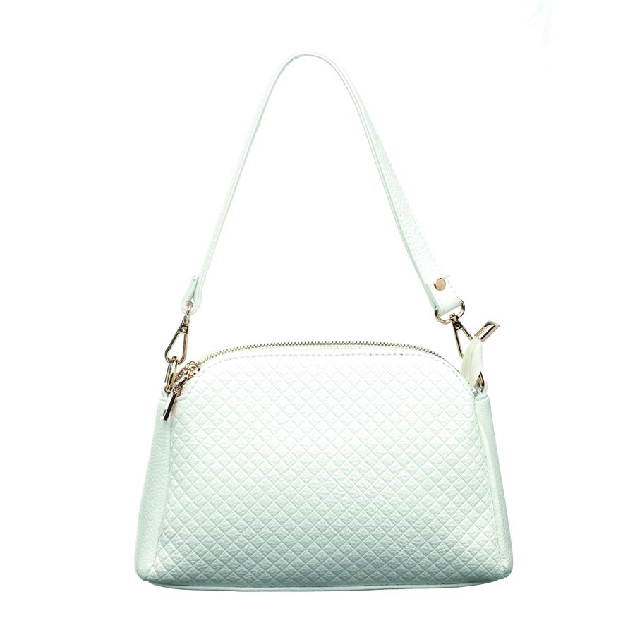 Сумка женская OrsOro, цвет: белый. D-201/14D-201/14Сумка с тремя отделениями на молнии, внутренним карманом на молнии и карманом для телефона. Плечевой ремень