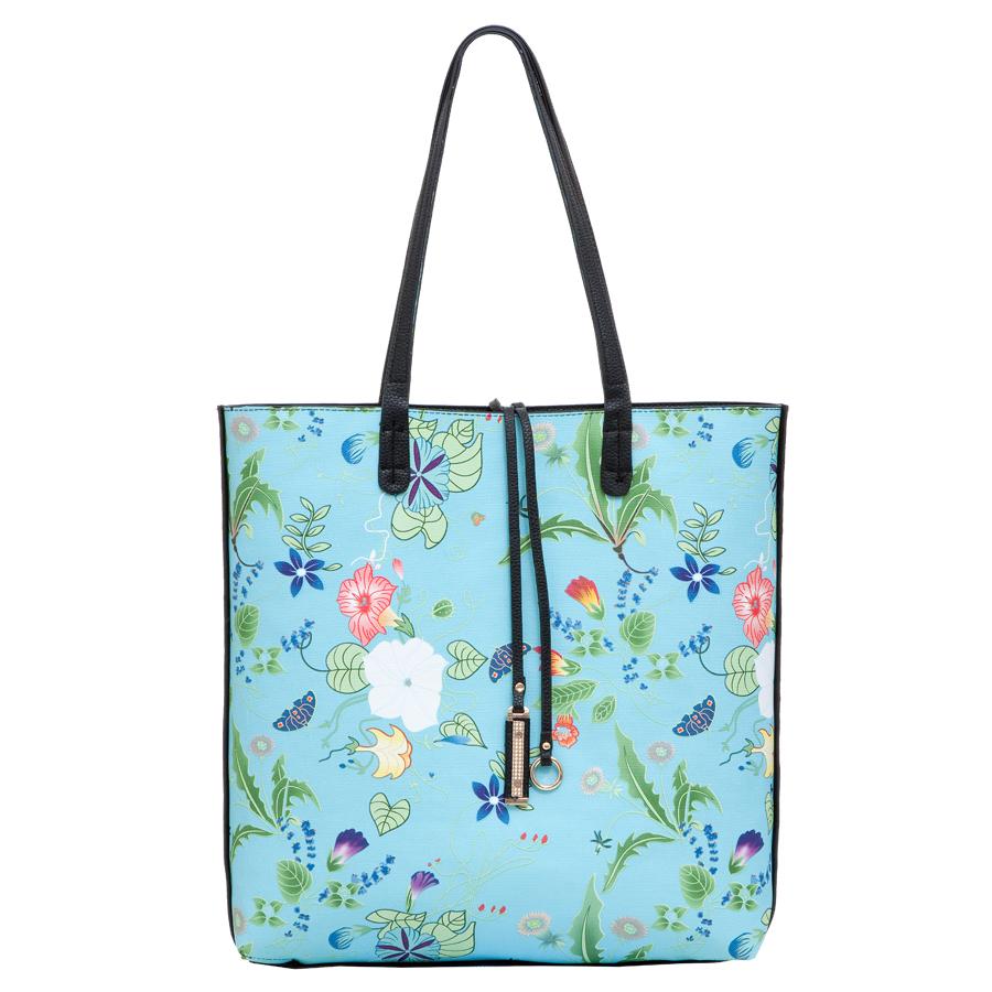 Сумка женская OrsOro, цвет: голубой. D-217/39D-217/39Сумка двухсторонняя, внутри дополнительная сумка на молнии с плечевым ремнём, внутренний карман на молнии, карман для телефона. Одно отделение.