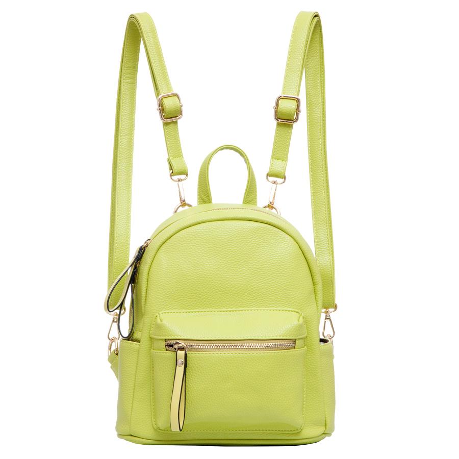 Рюкзак женский OrsOro, цвет: салатовый. D-234/22D-234/22Рюкзак с одним отделением, на молнии, один передний карман на молнии. Внутренний карман на молнии, карман для телефона, задний карман на молнии, два боковых кармана