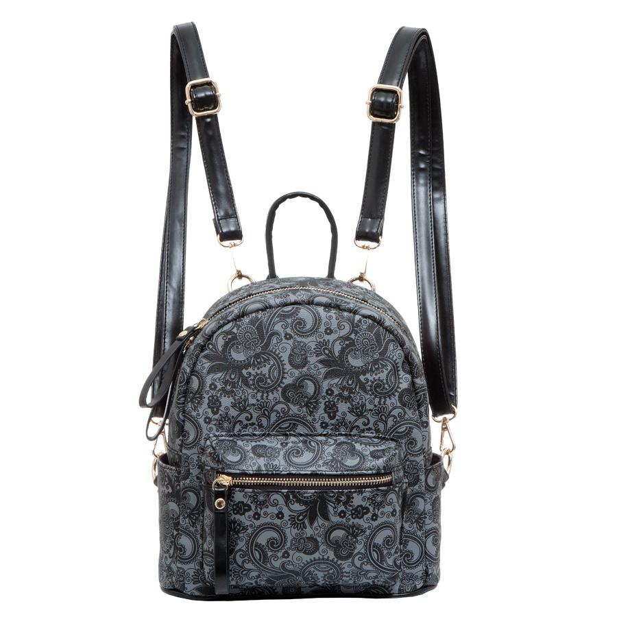 Рюкзак женский OrsOro, цвет: серый. D-234/45D-234/45Рюкзак с одним отделением, на молнии, один передний карман на молнии. Внутренний карман на молнии, карман для телефона, задний карман на молнии, два боковых кармана