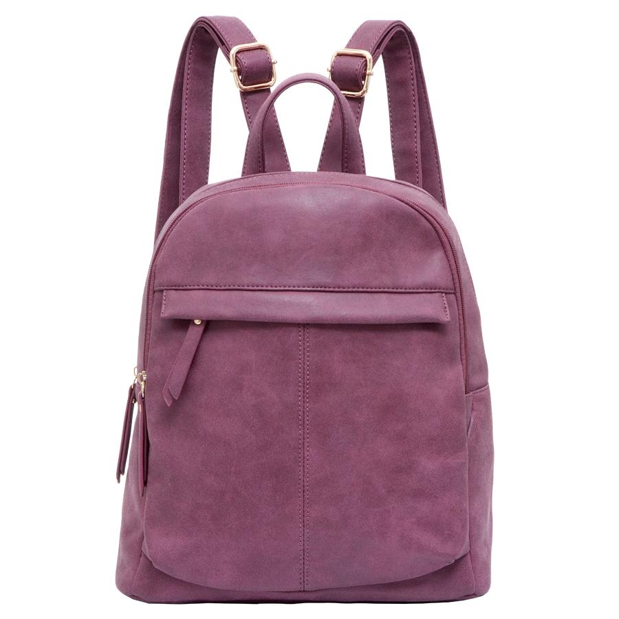 Рюкзак женский OrsOro, цвет: фиолетовый. D-237/11D-237/11Рюкзак с двумя отделениями, на молнии, один передний карман на молнии. Внутренний карман на молнии, карман для телефона, задний карман на молнии