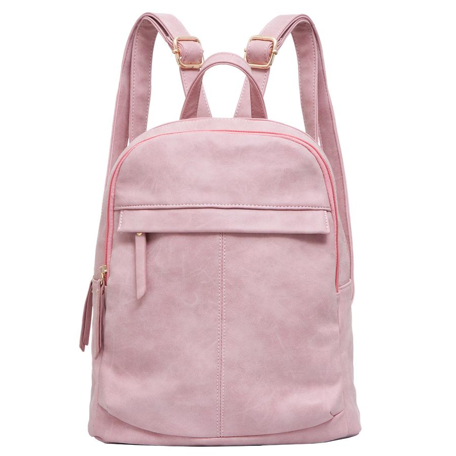 Рюкзак женский OrsOro, цвет: розовый. D-237/20D-237/20Рюкзак с двумя отделениями, на молнии, один передний карман на молнии. Внутренний карман на молнии, карман для телефона, задний карман на молнии