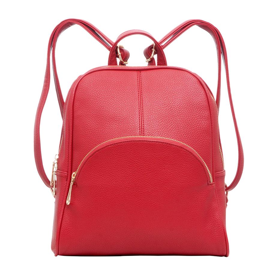 Рюкзак женский OrsOro, цвет: красный. D-241/13D-241/13Рюкзак с одним отделением, на молнии, один передний карман на молнии. Внутренний карман на молнии, карман для телефона, задний карман на молнии, карман под iPad