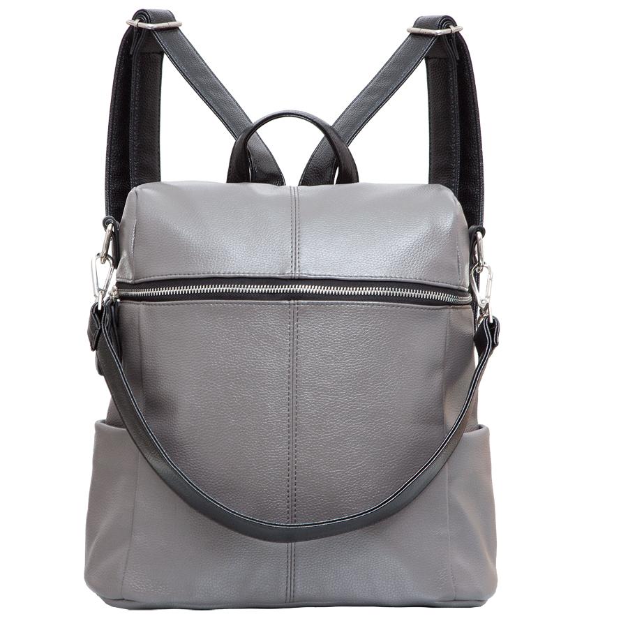 Рюкзак женский OrsOro, цвет: серый. D-243/45D-243/45Стильный рюкзак OrsOro, выполнен из экокожи и оснащен двумя плечевыми регулируемыми ремнями на спинке и удобной ручкой для переноски. Изделие закрывается на застежку-молнию, внутри имеет одно вместительное отделение с одним накладным карманом для телефона и мелочей и одним прорезным карманом на застежке-молнии. С тыльной стороны изделия имеется прорезной карман на застежке-молнии. Рюкзак оснащен также двумя боковыми карманами для мелочей. Сумка-рюкзак OrsOro - это выбор молодой, уверенной, стильной женщины, которая ценит качество и комфорт. Изделие станет изысканным дополнением к вашему образу.