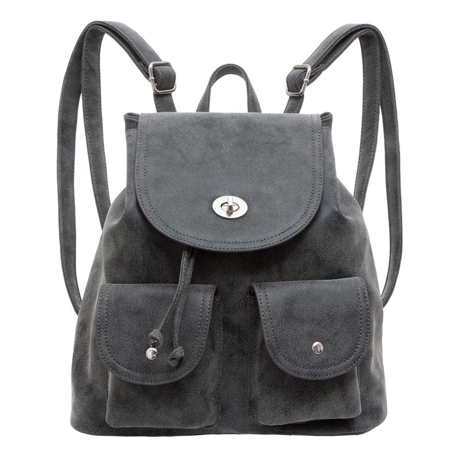 Рюкзак женский OrsOro, цвет: черный. D-244/1D-244/1Рюкзак на затяжках с клапаном, одно отделение, два передних кармана с клапанами на кнопках, внутренний карман на молнии, карман для телефона, задний карман на молнии.