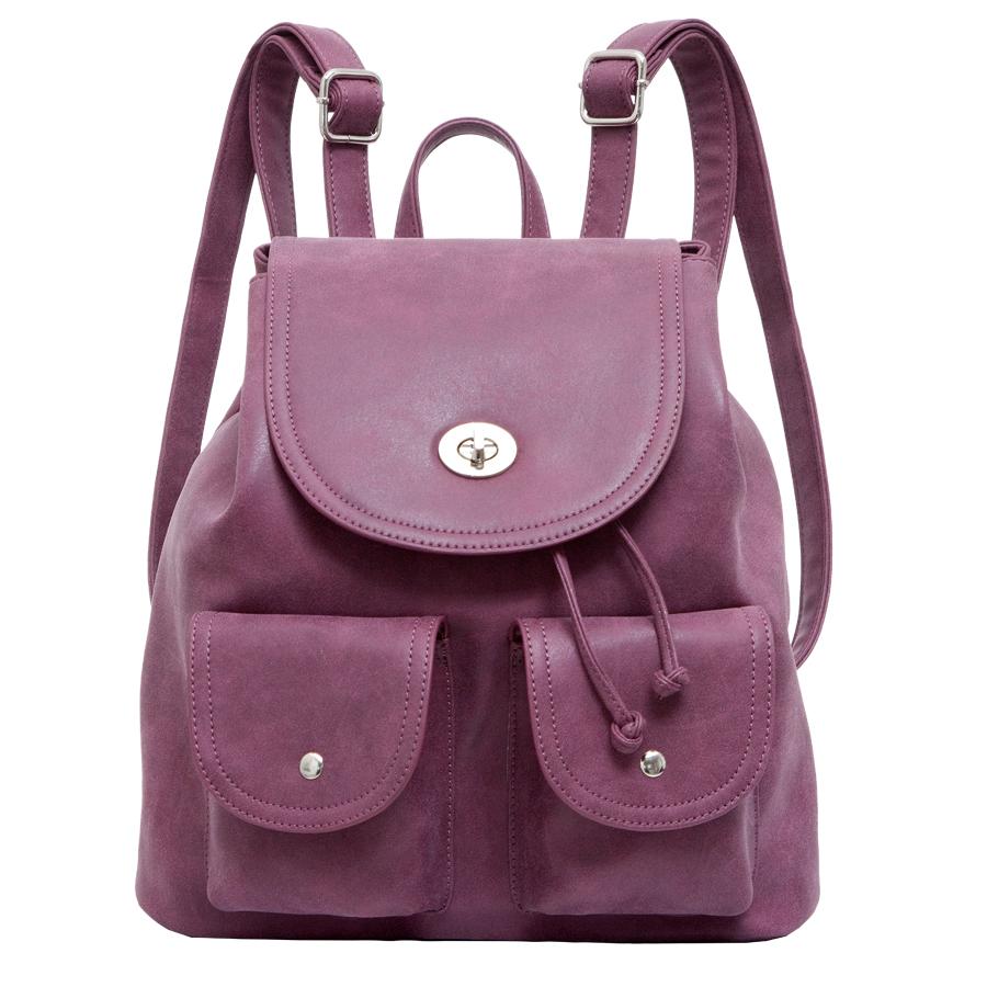 Рюкзак женский OrsOro, цвет: сиреневый. D-244/11D-244/11Стильный рюкзак OrsOro, выполнен из экокожи и оснащен двумя плечевыми регулируемыми ремнями на спинке и удобной ручкой для переноски. Изделие затягивается с помощью шнурка и закрывается клапаном на застежку-вертушку, внутри имеет одно вместительное отделение с одним накладным карманом для телефона и мелочей и одним прорезным карманом на застежке-молнии. С тыльной стороны изделия имеется прорезной карман на застежке-молнии. Рюкзак оснащен также передними накладными карманами, которые закрываются с помощью небольших клапанов на кнопки. Сумка-рюкзак OrsOro - это выбор молодой, уверенной, стильной женщины, которая ценит качество и комфорт. Изделие станет изысканным дополнением к вашему образу.