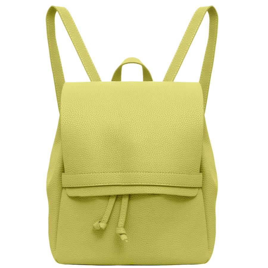 Рюкзак женский OrsOro, цвет: желтый. D-245/19D-245/19Стильный рюкзак OrsOro, выполнен из экокожи и оснащен двумя плечевыми ремнями на спинке и удобной ручкой для переноски. Изделие затягивается с помощью шнурков и закрывается клапаном на хлястик с фиксатором, внутри имеет одно вместительное отделение. Сумка-рюкзак OrsOro - это выбор молодой, уверенной, стильной женщины, которая ценит качество и комфорт. Изделие станет изысканным дополнением к вашему образу.