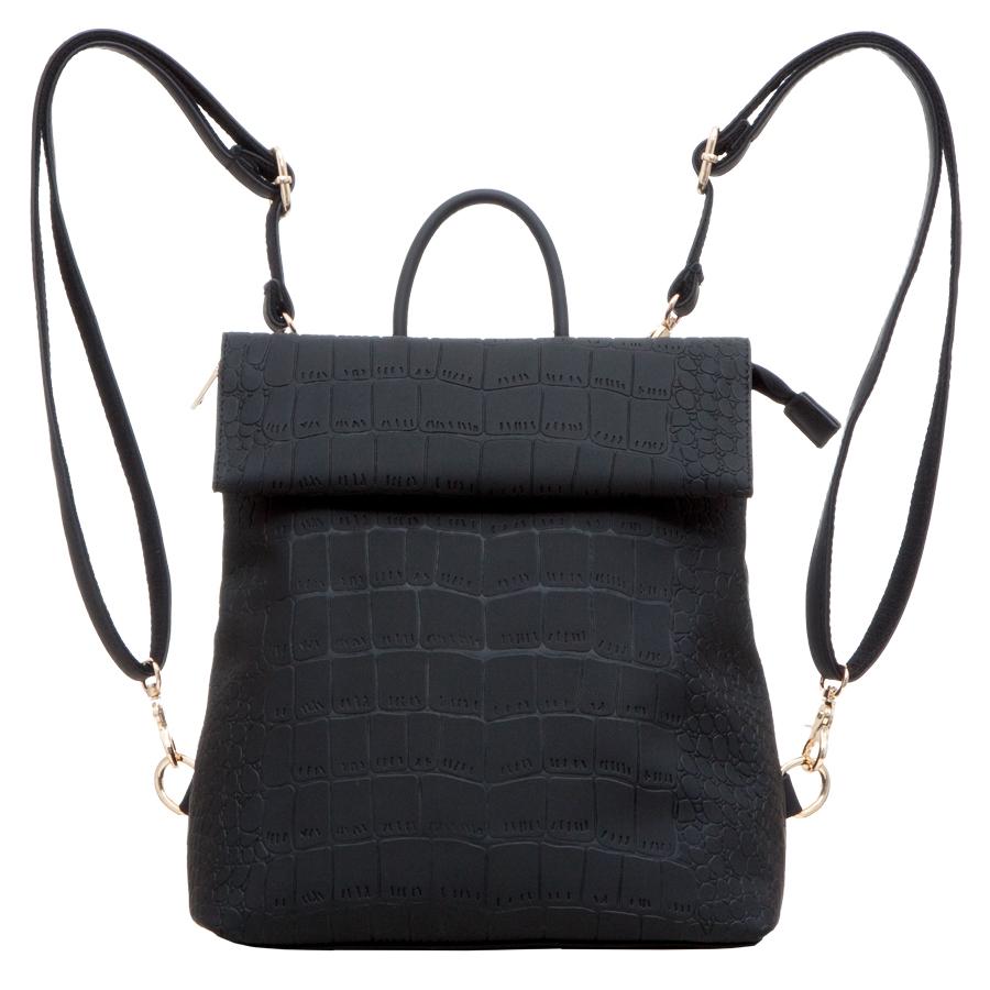 Рюкзак женский OrsOro, цвет: черный. D-247/1D-247/1Рюкзак с раскладывающимся клапаном, одним отделением на молнии, два внутренних кармана один из них на молнии, карман для телефона, задний карман на молнии.