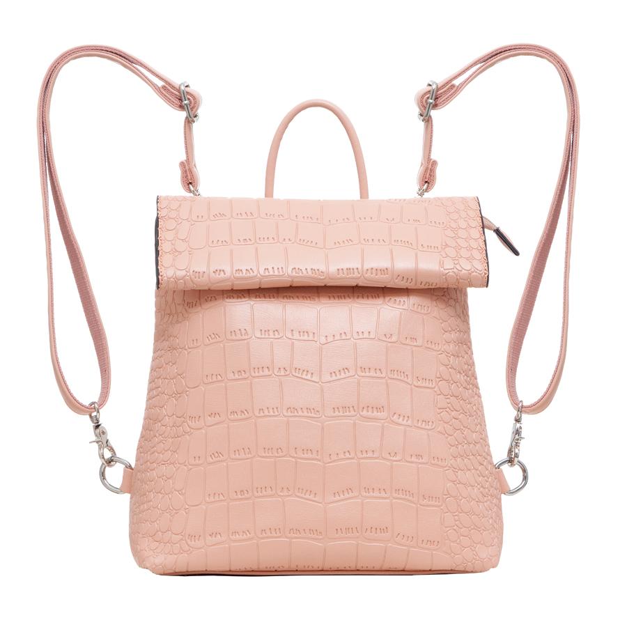 Рюкзак женский OrsOro, цвет: оранжевый. D-247/17D-247/17Рюкзак с раскладывающимся клапаном, одним отделением на молнии, два внутренних кармана один из них на молнии, карман для телефона, задний карман на молнии.