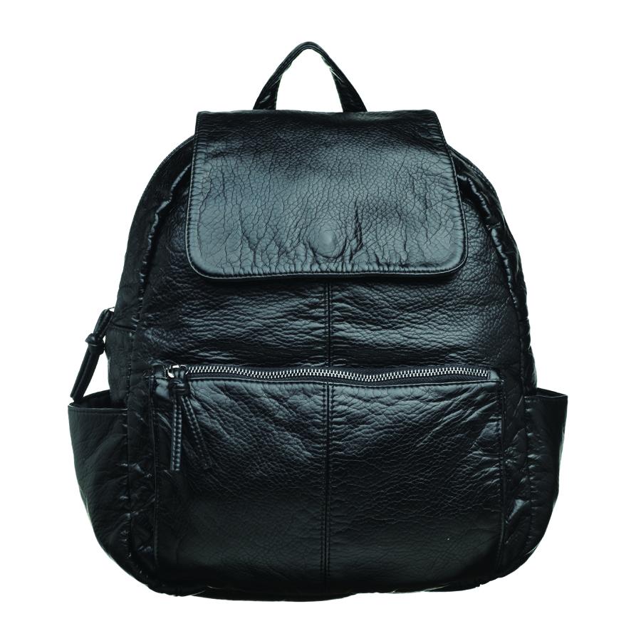 Рюкзак женский OrsOro, цвет: черный. D-251/1D-251/1Стильный рюкзак OrsOro, выполнен из экокожи и оснащен двумя плечевыми регулируемыми ремнями на спинке и удобной ручкой для переноски. Изделие закрывается на застежку-молнию, внутри имеет одно вместительное отделение с одним накладным карманом для телефона и мелочей и одним прорезным карманом на застежке-молнии. С тыльной стороны изделия имеется прорезной карман на застежке-молнии. Рюкзак оснащен также передним накладным карманом на молнии и двумя боковыми карманами для мелочей. Сумка-рюкзак OrsOro - это выбор молодой, уверенной, стильной женщины, которая ценит качество и комфорт. Изделие станет изысканным дополнением к вашему образу.