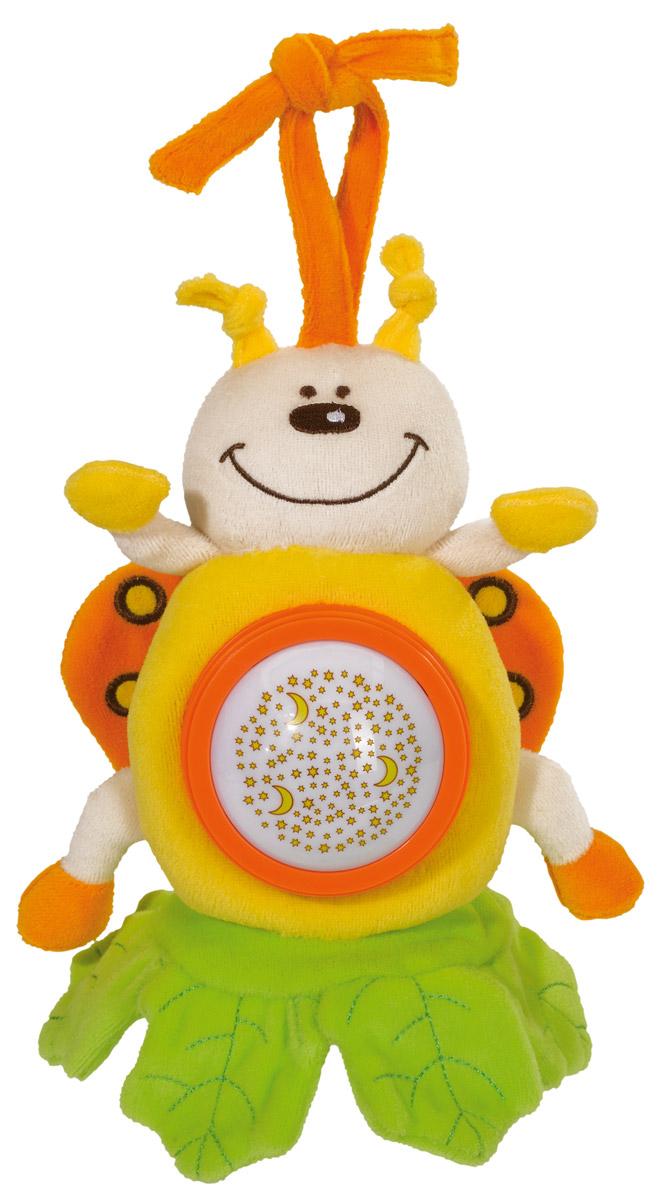 Simba Музыкальная игрушка-подвеска Плюшевые насекомые цвет желтый4019093Музыкальная игрушка-подвеска Simba Плюшевые насекомые, несомненно, надолго заинтересует вашего малыша. Изготовлена игрушка из текстильного, приятного на ощупь материала. Это симпатичное и очень милое плюшевое насекомое в виде бабочки станет отличным развлечением для вашего карапуза. С ней можно просто играть, а также использовать в качестве подвески над кроваткой или в коляске при помощи специальной тесьмы, предусмотренной на голове насекомого. При нажатии на животик игрушка воспроизводит нежную короткую мелодию и светится разными цветами. Приятное звучание игрушки концентрирует внимание малыша, развивает слуховое и пространственное восприятие. Яркие контрастные цвета развивают зрительное восприятие. Разнофактурные материалы развивают тактильные ощущения. Для работы игрушки требуются 3 батарейки типа ААА напряжением 1,5V (товар комплектуется демонстрационными).