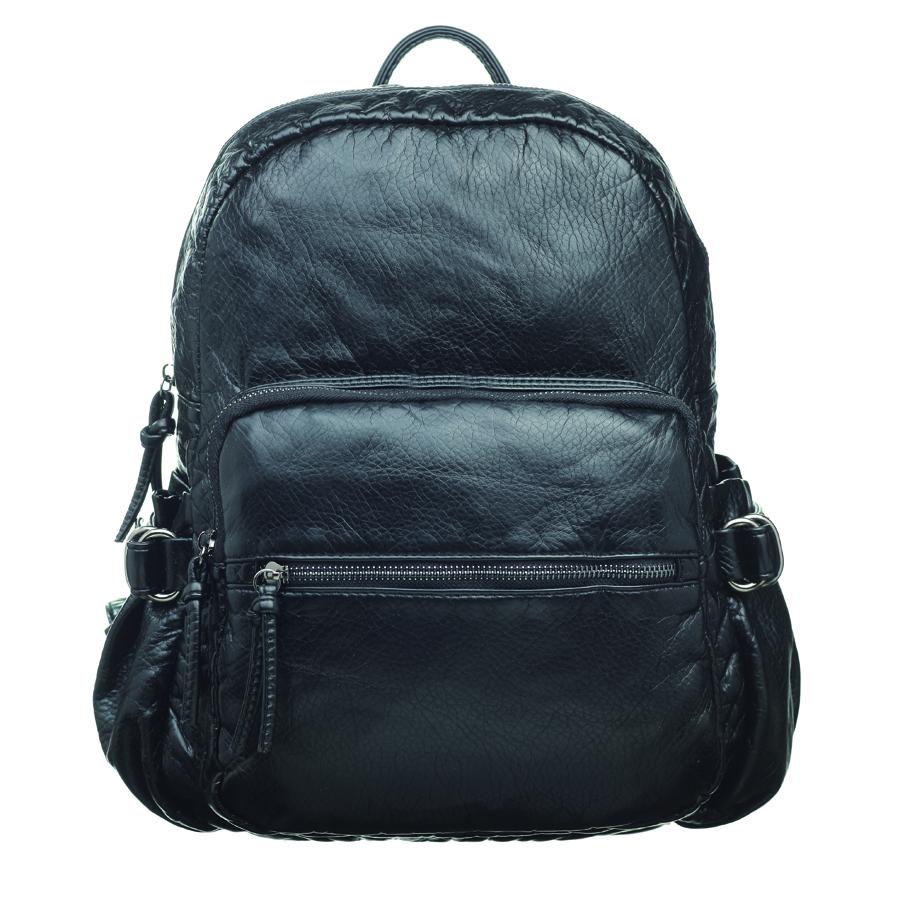Рюкзак женский OrsOro, цвет: черный. D-252/1D-252/1Стильный женский рюкзак OrsOro не оставит вас равнодушной благодаря своему дизайну. Он изготовлен из мягкой экокожи зернистой текстуры. На лицевой стороне расположен объемный карман на молнии и вшитый карман на молнии для мелочей. Рюкзак имеет удобные боковые карман, объем которых регулируется с помощью ремешков с пряжками. Изделие закрывается на удобную молнию. Внутри расположено вместительное главное отделение, которое содержит два открытых накладных кармана для телефона и мелочей и один вшитый карман на молнии. Рюкзак оснащен удобными лямками, длину которых можно регулировать с помощью пряжек. Такой рюкзак подчеркнет ваш неповторимый образ займет достойное место в вашем гардеробе.