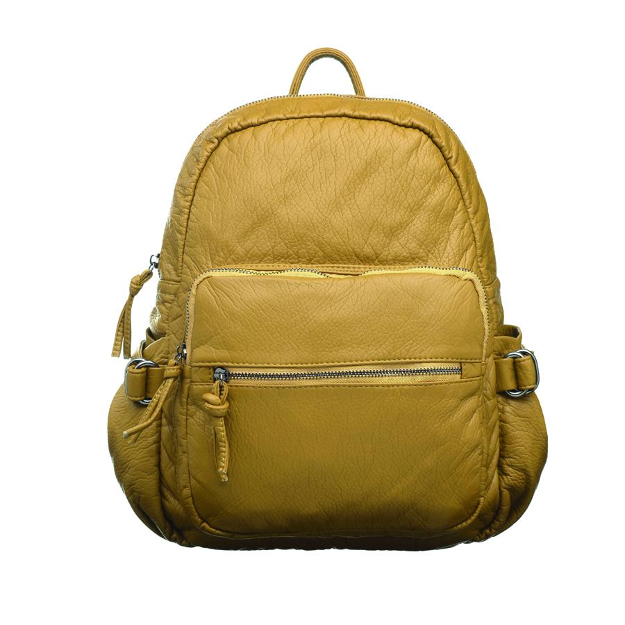 Рюкзак женский OrsOro, цвет: горчичный. D-252/5D-252/5Стильный женский рюкзак OrsOro не оставит вас равнодушной благодаря своему дизайну. Он изготовлен из мягкой экокожи зернистой текстуры. На лицевой стороне расположен объемный карман на молнии и вшитый карман на молнии для мелочей. Рюкзак имеет удобные боковые карман, объем которых регулируется с помощью ремешков с пряжками. Изделие закрывается на удобную молнию. Внутри расположено вместительное главное отделение, которое содержит два открытых накладных кармана для телефона и мелочей и один вшитый карман на молнии. Рюкзак оснащен удобными лямками, длину которых можно регулировать с помощью пряжек. Такой рюкзак подчеркнет ваш неповторимый образ займет достойное место в вашем гардеробе.