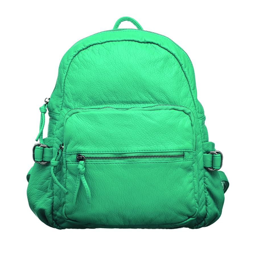 Рюкзак женский OrsOro, цвет: бирюзовый. D-252/6D-252/6Стильный женский рюкзак OrsOro не оставит вас равнодушной благодаря своему дизайну. Он изготовлен из мягкой экокожи зернистой текстуры. На лицевой стороне расположен объемный карман на молнии и вшитый карман на молнии для мелочей. Рюкзак имеет удобные боковые карман, объем которых регулируется с помощью ремешков с пряжками. Изделие закрывается на удобную молнию. Внутри расположено вместительное главное отделение, которое содержит два открытых накладных кармана для телефона и мелочей и один вшитый карман на молнии. Рюкзак оснащен удобными лямками, длину которых можно регулировать с помощью пряжек. Такой рюкзак подчеркнет ваш неповторимый образ займет достойное место в вашем гардеробе.