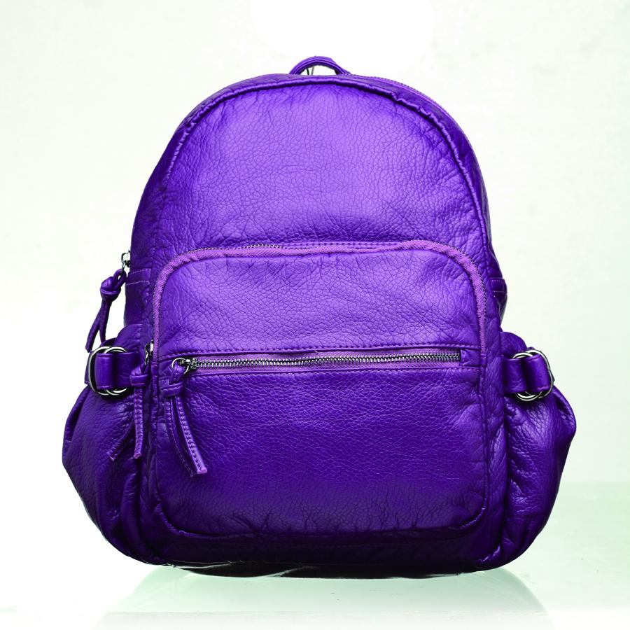 Рюкзак женский OrsOro, цвет: фиолетовый. D-252/7D-252/7Рюкзак с одним отделением на молнии, с объемным передним карманом на молнии, дополнительным передним карманом на молнии, два боковых кармана, внутренний карман на молнии, карман для телефона, задний карман на молнии.