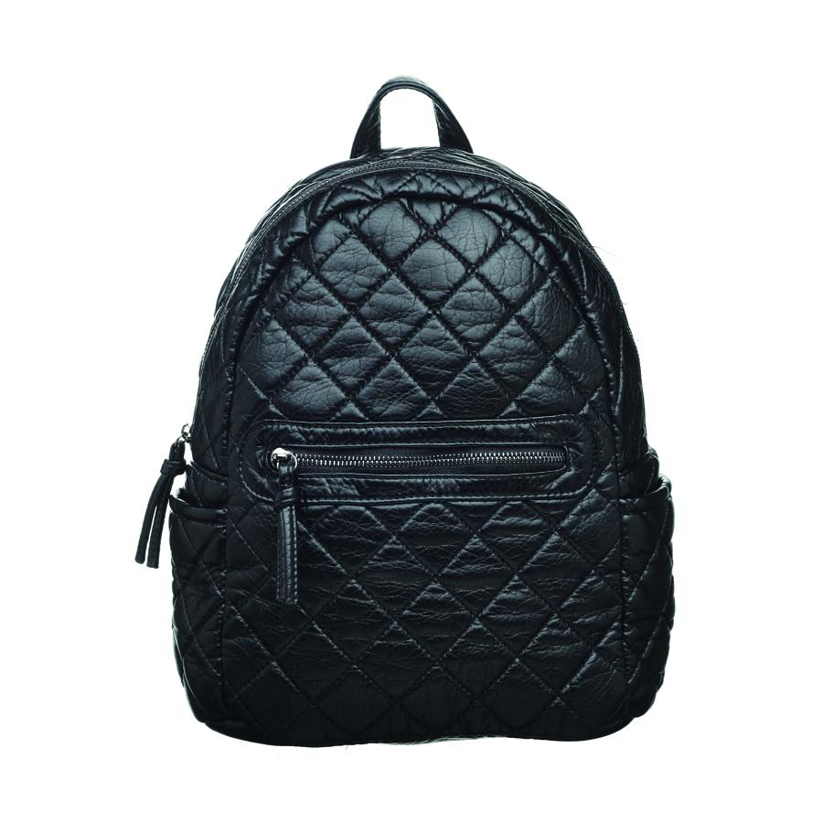 Рюкзак женский OrsOro, цвет: черный. D-253/1D-253/1Рюкзак с одним отделение на молнии, передним карманом на молнии, два боковых кармана, внутренний карман на молнии, карман для телефона, задний карман на молнии.