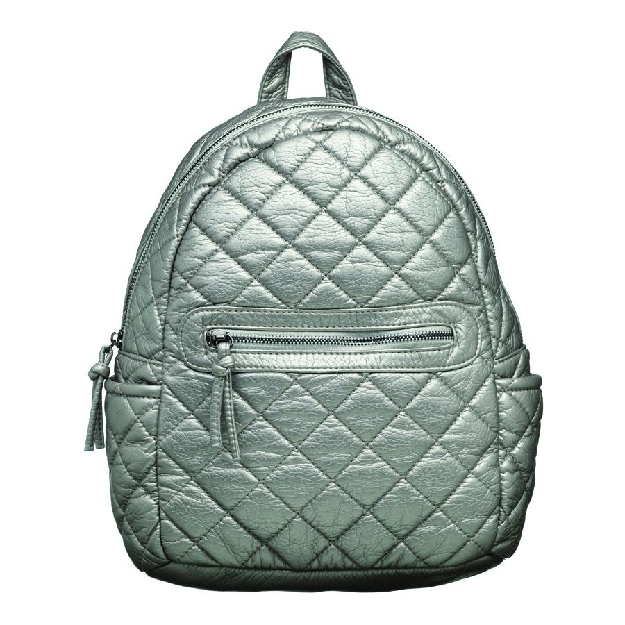 Рюкзак женский OrsOro, цвет: серебро. D-253/4D-253/4Рюкзак с одним отделение на молнии, передним карманом на молнии, два боковых кармана, внутренний карман на молнии, карман для телефона, задний карман на молнии.