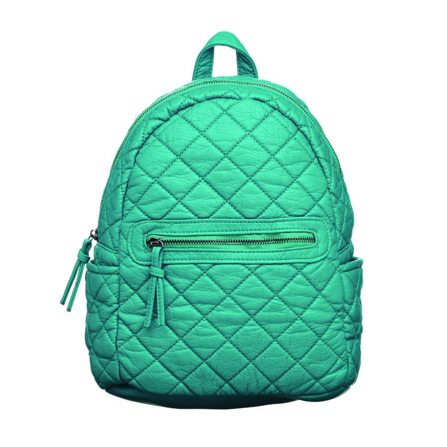 Рюкзак женский OrsOro, цвет: бирюзовый. D-253/6D-253/6Стильный рюкзак OrsOro, выполнен из экокожи и оснащен двумя плечевыми регулируемыми ремнями на спинке и удобной ручкой для переноски. Изделие закрывается на застежку-молнию, внутри имеет одно вместительное отделение с одним накладным карманом для телефона и мелочей и одним прорезным карманом на застежке-молнии. С тыльной стороны изделия имеется прорезной карман на застежке-молнии. Рюкзак оснащен также передним накладным карманом на молнии и двумя боковыми карманами для мелочей. Сумка-рюкзак OrsOro - это выбор молодой, уверенной, стильной женщины, которая ценит качество и комфорт. Изделие станет изысканным дополнением к вашему образу.