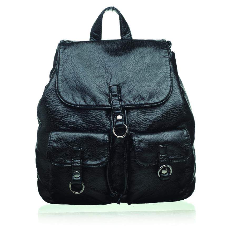 Рюкзак женский OrsOro, цвет: черный. D-254/1D-254/1Стильный рюкзак OrsOro, выполнен из экокожи и оснащен двумя плечевыми регулируемыми ремнями на спинке и удобной ручкой для переноски. Изделие затягивается с помощью шнурка и закрывается клапаном на кнопку, внутри имеет одно вместительное отделение с одним накладным карманом для телефона и мелочей и одним прорезным карманом на застежке-молнии. С тыльной стороны изделия имеется прорезной карман на застежке-молнии. Рюкзак оснащен также передними накладными карманами, которые закрываются с помощью небольших клапанов на кнопки. Сумка-рюкзак OrsOro - это выбор молодой, уверенной, стильной женщины, которая ценит качество и комфорт. Изделие станет изысканным дополнением к вашему образу.
