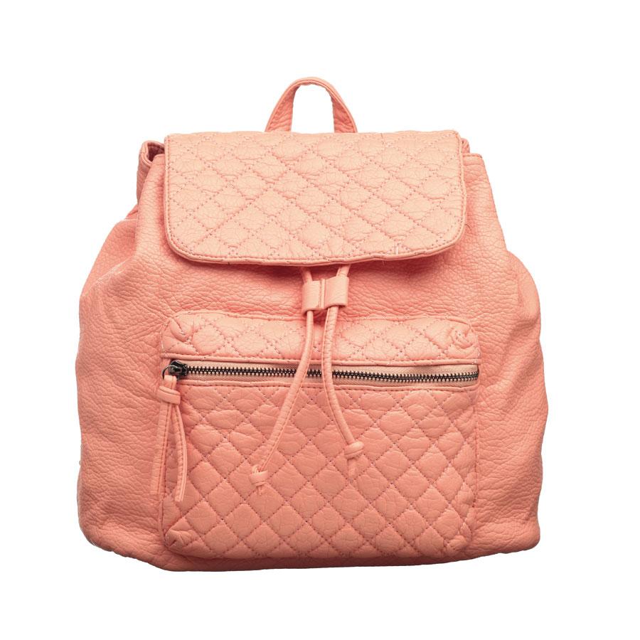Рюкзак женский OrsOro, цвет: персиковый. D-255/17D-255/17Стильный рюкзак OrsOro, выполнен из экокожи и оснащен двумя плечевыми регулируемыми ремнями на спинке и удобной ручкой для переноски. Изделие закрывается клапаном на кнопкку, внутри имеет одно вместительное отделение с одним накладным карманом для телефона и мелочей и одним прорезным карманом на застежке-молнии. С тыльной стороны изделия имеется прорезной карман на застежке-молнии. Рюкзак оснащен также передним накладным карманом на молнии. Сумка-рюкзак OrsOro - это выбор молодой, уверенной, стильной женщины, которая ценит качество и комфорт. Изделие станет изысканным дополнением к вашему образу.