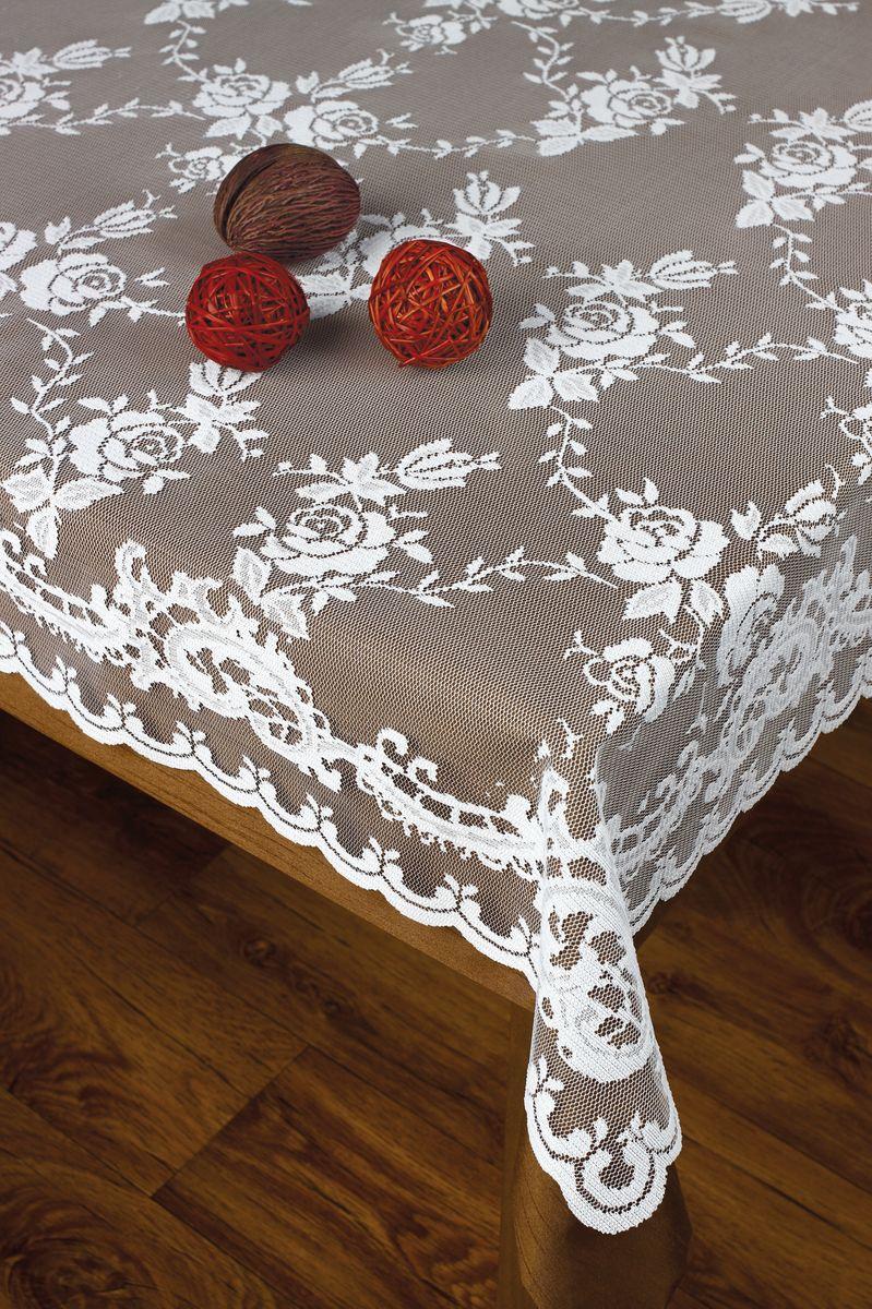 Скатерть Haft, прямоугольная, цвет: белый, 120 х 160 см214310/120Скатерть выполнена в европейском стиле, жаккардовое плетение.