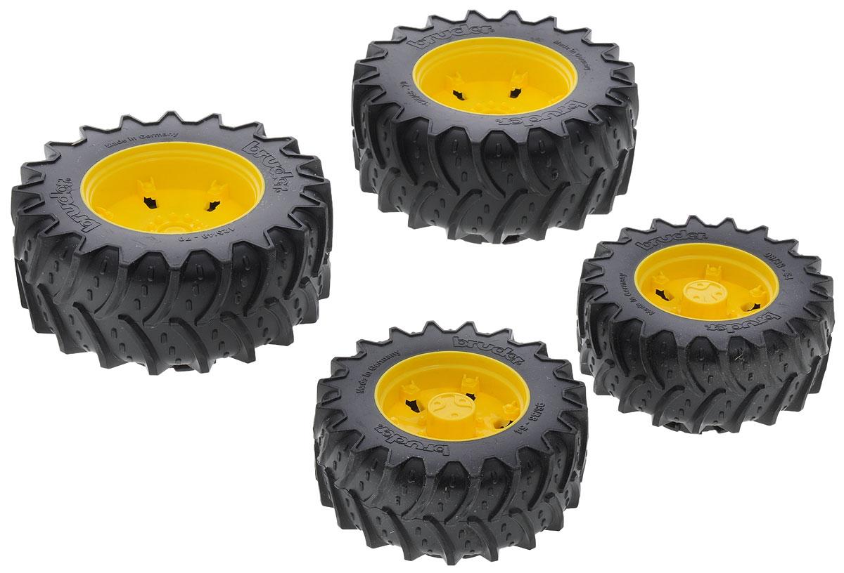 Bruder Шины для системы сдвоенных колес цвет желтый 4 шт