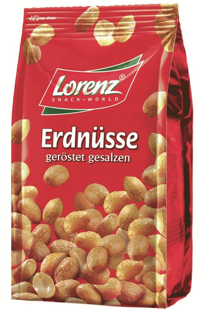 Lorenz арахис обжаренный соленый, 175 г