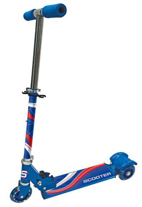 Next Самокат трехколесный цвет синий