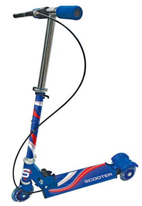 Next Самокат трехколесный с ручным тормозом цвет синий