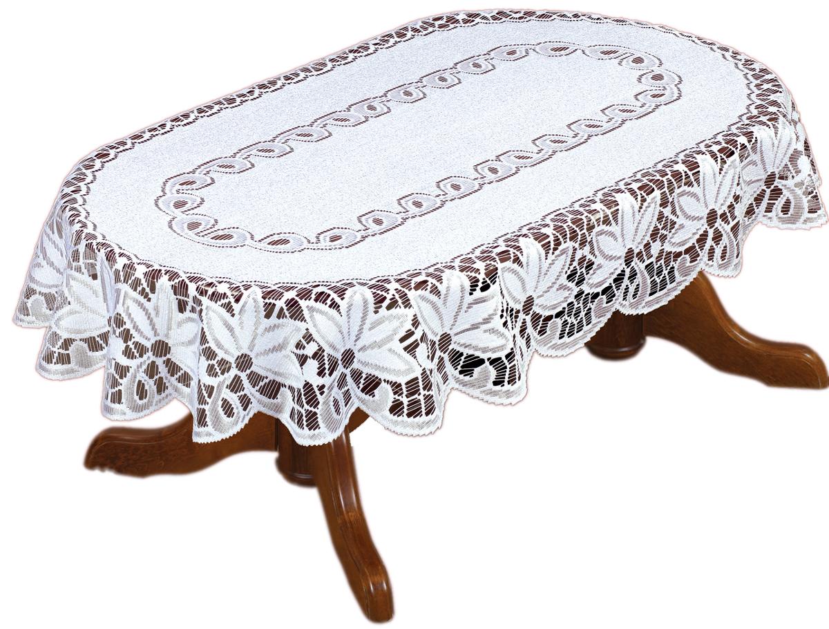Скатерть Haft, овальная, цвет: белый, 130 х 180 см200811/130Скатерть выполнена в европейском стиле, жаккардовое плетение.