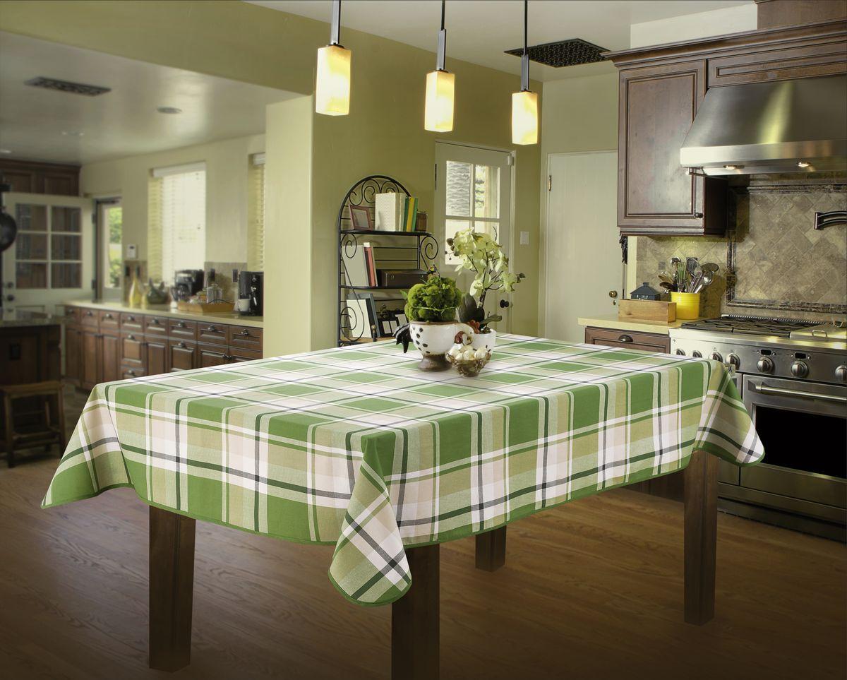 Скатерть Wisan, прямоугольная, цвет: зеленый, 130 х 160 см331ВСкатерть выполнена в европейском стиле,ткань плотная.