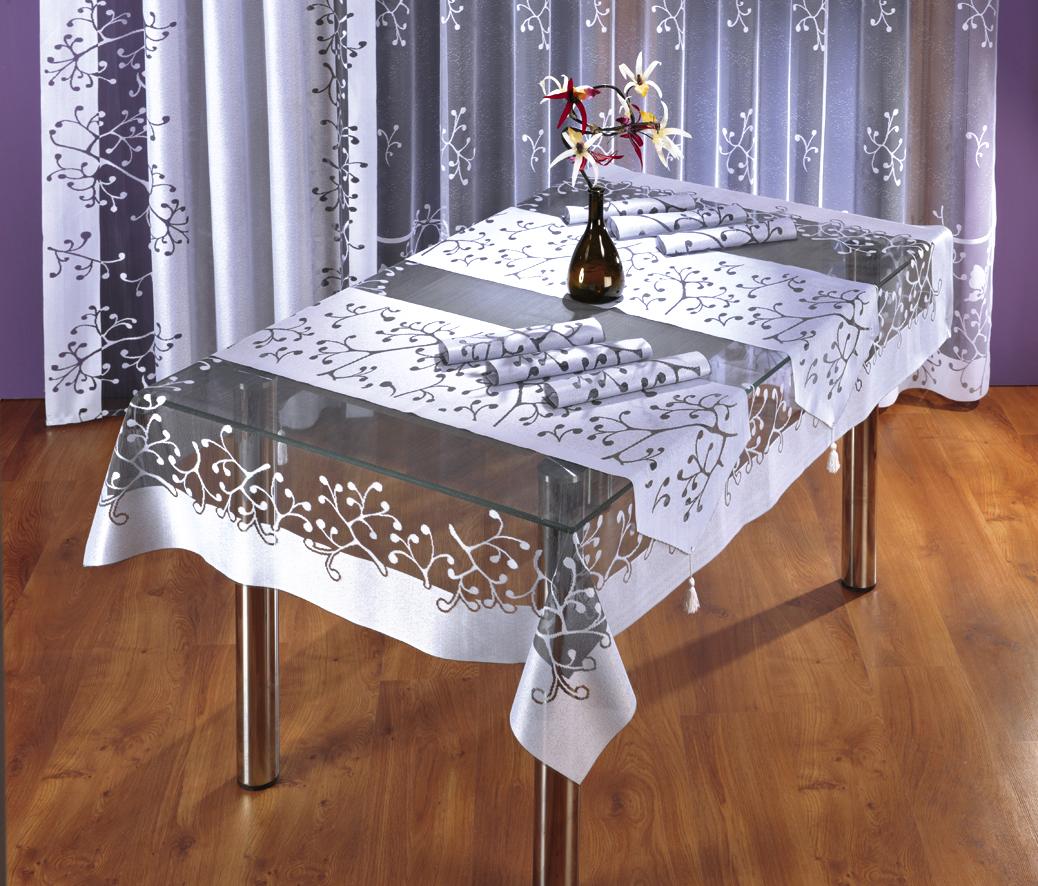 Скатерть Wisan, прямоугольная, цвет: белый, серый, 130 х 180 см3276 серая-белаяСкатерть выполнена в европейском стиле, жаккардовое плетение.