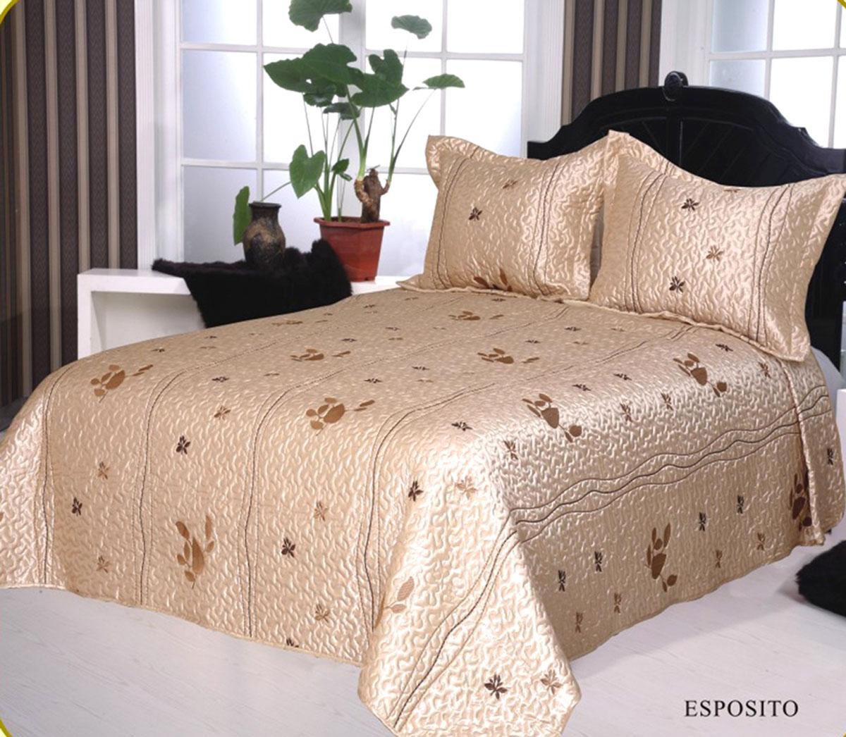 Комплект для спальни Arya: покрывало 250 х 260 см, 2 наволочки 50 х 70 см, цвет: бежевыйF0002763Комплект для спальни Arya состоит из покрывала и двух наволочек. В коллекции используется самый износостойкий материал - полиэстер. Он выдерживает многократные стирки, сохраняет форму и цвет, не изнашивается. Ваша спальня будет всегда стильной и индивидуальной. Советы по уходу: - Эта ткань устойчива к машинной стирке в холодной воде. - Стирать вещи из полиэстера следует только со светлыми вещами. - Не рекомендуется отбеливать. - Гладить утюгом, регулятор которого установлен на минимум.