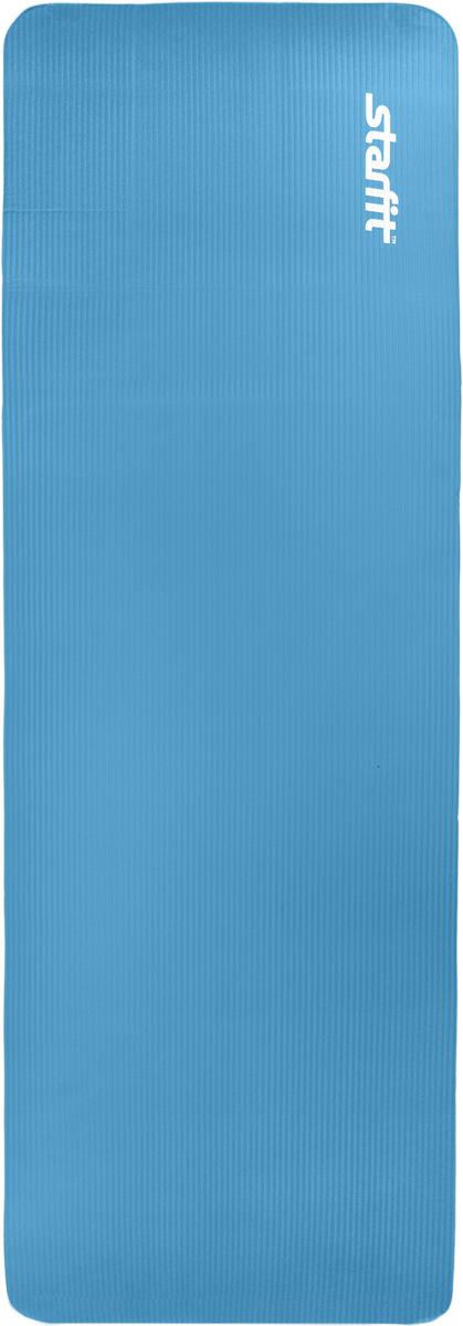 Коврик для йоги Star Fit, цвет: синий, 183 x 58 x 1,2 смУТ-00007251Коврик для йоги Star Fit - это современный, удобный и компактный аксессуар для занятий фитнесом и йогой в группах или домашних условиях. Изделие выполнено из NBR (нитрильный каучук), а не скользящая и мягкая на ощупь поверхность обеспечивает комфорт при выполнении упражнений. В процессе занятий коврик не растягивается и не теряет формы. Легкий коврик оснащен ремешками для комфортного хранения и переноски в свернутом состоянии.